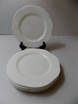 Villeroy & Boch, Arco Weiss, Set of 4 Bread/Butter/Canape Plates, White, EUC