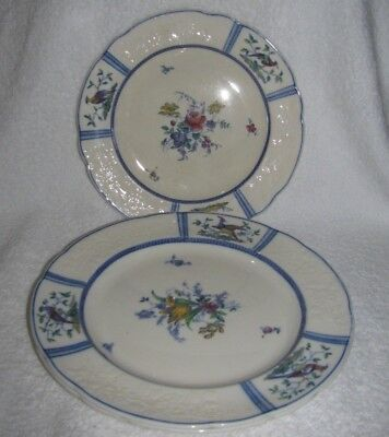 Spode Copeland June Blue Trim set of  2 Dinner and 1 Luncheon Plate England