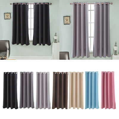 1 Panel Grommet Top Blackout Curtain Window Treatment Thermal Insulated