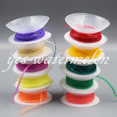 10 Pcs Dental Orthodontics Elastic Ultra Power Chain Close Short Long Colorful