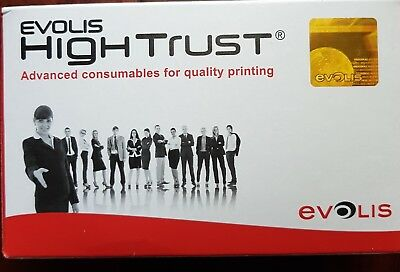 GENUINE Evolis Hightrust R3011 5 panel YMCKO colour ribbon 200 prints pebble Dua