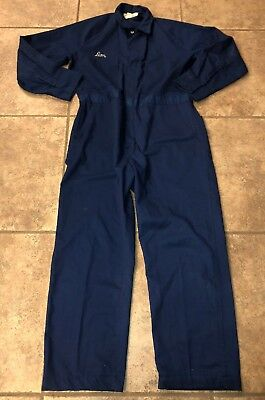 Vintage Mechanic Blue COVERALLS, UNITOG 500, Size Medium