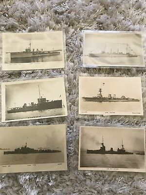 Vintage Post Cards H.M.S Royal Navy Warships