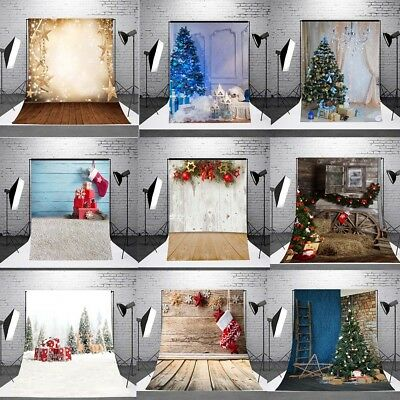 7x5ft Christmas Forest Background Photography Backdrop Studio Photo Vinyl Cloth