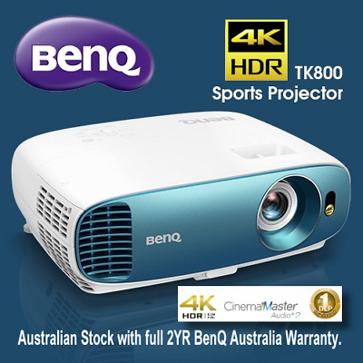 Brand New! BenQ TK800 True 4K UHD HDR HD 3D Home Cinema Projector Sports Cinema