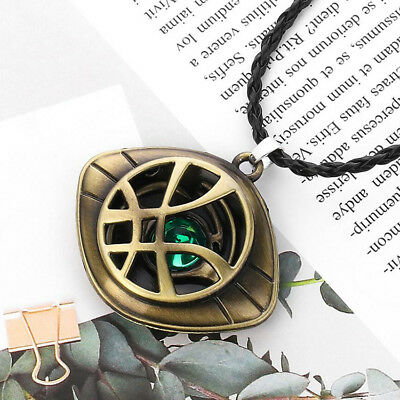 Charm Dr Doctor Strange Eye of Agamotto Amulet Pendant Necklace GLOW In The DARK
