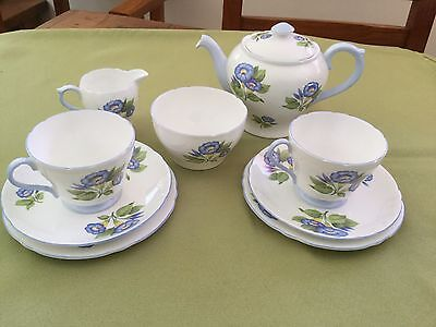 """Shelley Tea For Two Set - """"Morning Glory"""""""
