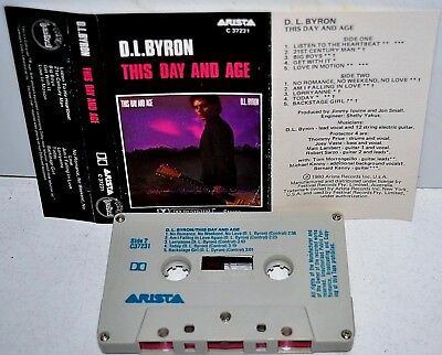 D.L. BYRON      - THIS DAY AND AGE -                   Cassette Tape