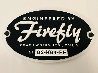 ENGINEERED BY FIREFLY Plaque Firefly Loot Cargo Crate March 2018 EXCLUSIVE