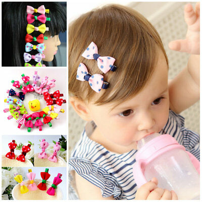 10pcs/lot Girls Hairpins Kids Hair Clip Children baby accessories bows clips