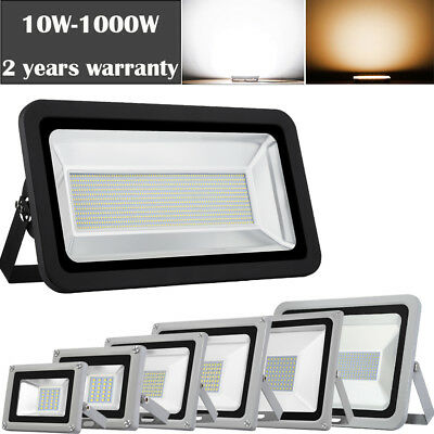 LED Floodlights 1000W 800W 500W 300W 100W 50W 30W 20W 10W Outdoor Flood Light UK