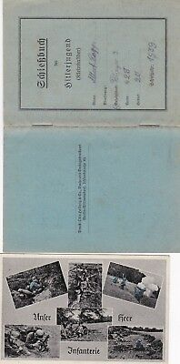 WW2 German Heer (army) postcard & Hitler Youth service record.