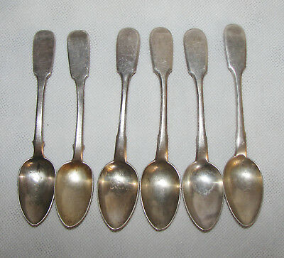 171g Imperial Russian silver spoon set 6 silver 84 tea spoons antigue 1890 1854