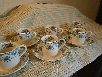 Copeland Spode set of 6 duos in the Merville pattern