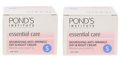 2x PONDS Nourishing Anti Wrinkle DAY & NIGHT Cream 50ml With White Tea extract