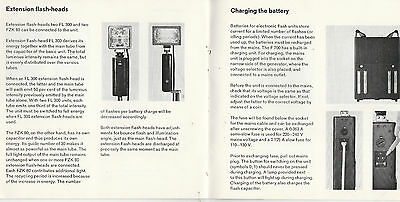 Hints For Use Of Braun Electronic Flashgun F 700 Professional Rare Undated Copy
