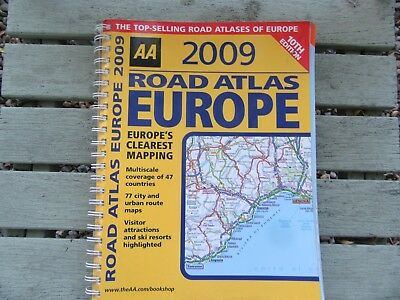 AA Road Atlas Europe (AA Atlases and Maps) by AA Publishing Spiral bound Book ex
