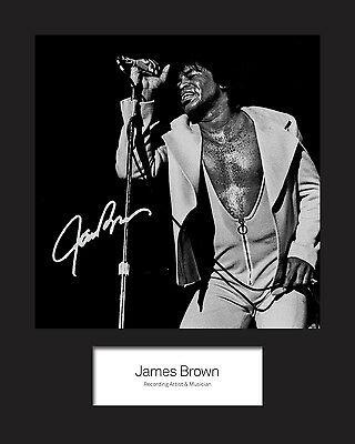 JAMES BROWN #2 Signed Photo Print 10x8 Mounted Photo Print - FREE DELIVERY