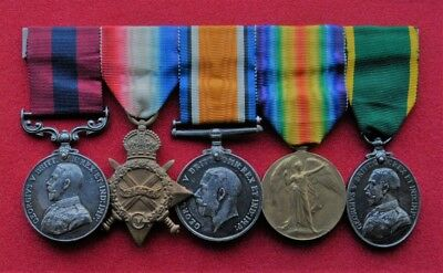 Early 1915 Great War Distinguished Conduct Gallntry / Long Service Medal Group