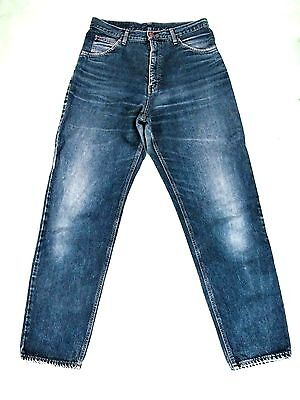 EDWIN Japan Orig, 80er Vintage 100% B/w Denim Jeans Hose Highwaist Blau L Pants