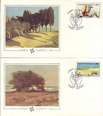 Cyprus (Turk) - Special Events, People & Anniversaries (8no. PO FDC's) 1982-2004
