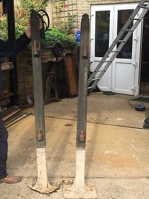 Two cast iron reclaimed gate posts (Victorian/ Vintage)