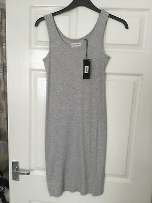 NEXT SIZE 12 Maternity Vest Top In Grey Soft Cotton/Viscose New Tag