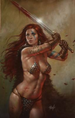 Red Sonja #20 Lucio Parrillo Nycc Virgin Variant Limited To 500 Copies