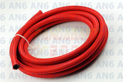 Steel Nylon Braided An6 -6 6 6An Transimission Oil Fuel Line Gas Hose 3Feet Red