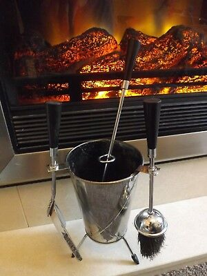 Vintage/Retro Atomic Sputnik Mid Century 4 Piece Fireside Companion Set