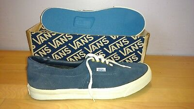 Vintage Vans shoes AUTHENTIC NAVY suede made USA size 13 blue bottom  Dogtown NOS eee827fe7f96