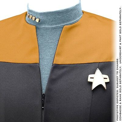 Anovos Star Trek Deep Space Nine DS9 Voyager Jacket NEW Size XL GOLD Ops