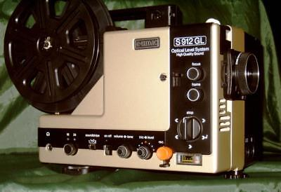 Super 8 Sound Movie Projector. Eumig S-912 Gl 2 Track Sound Optic Level Lens A1