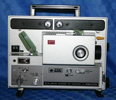 Elmo St-1200Hd Super 8, 2 Track Sound Movie Projector Serviced Projector Heaven