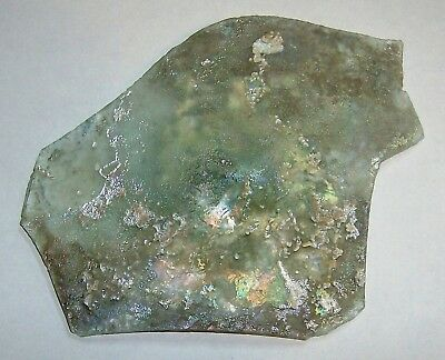 .ancient roman glass fragment with very lovely patina amazing....a