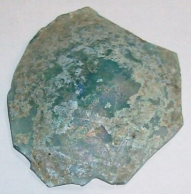 .ancient roman glass fragment with very lovely patina amazing....d