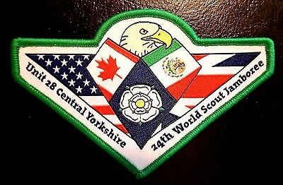 24th 2019 WORLD SCOUT JAMBOREE UNITED KINGDOM UK CENTRAL YORKSHIRE BADGE PATCH