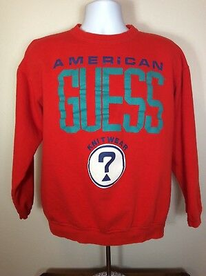 Guess Sweatshirt One Size Fits All Vintage 1990's J93