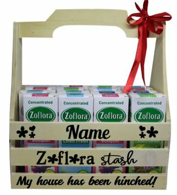 Personalised Zo flora Crate Sticker Set ONLY. DIY cleaning crate Zoflora Storage