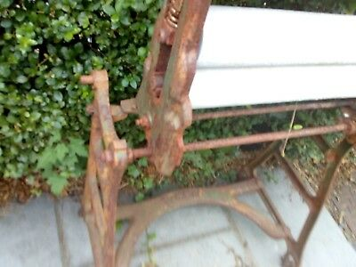 Antique Cast Iron Mangle  Garden Ornament