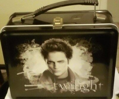 The Twilight Saga EDWARD blk.Metal Lunch Box w/ Factory Sealed Thermos