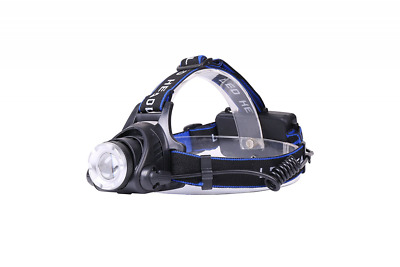 Zoomable LED Headlamp Rechargeable Head Lamp Adjustable Angle & Headband