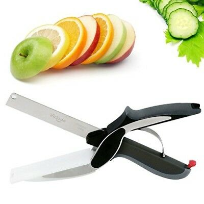 Multifunctional Kitchen Food Scissors,Vicloon Stainless Steel Knife with Cutting
