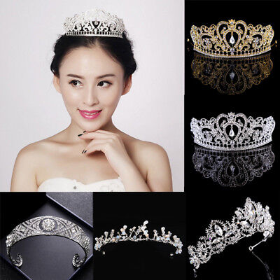 Wedding Bridal Crown Headdress Flower Crystal Hair Accessories Bridal Tiara