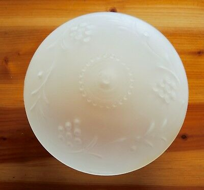 Vintage Frosted Glass Light Cover Ceiling Fixture Mexico