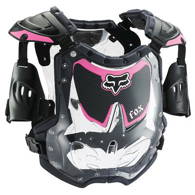 Fox Racing NEW Mx Womens R3 Roost Deflector Motocross Ladies Pink Body Armour