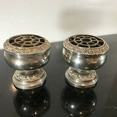 Bundle of Silver Plated IANTHE of England . Miniature Rose Bowls x2