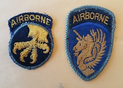 WWII 13th and 17th Airborne Division Patches - Nice Variations