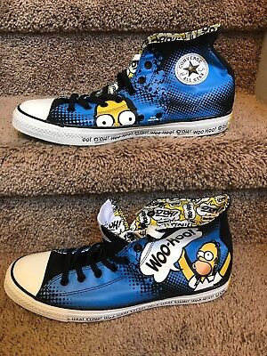 86a78c318497 CONVERSE ALL Star The Simpsons Homer Simpson Sneakers Sz Mens 12 NEW ...
