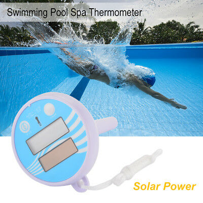 LCD Floating Thermometer Solar Powered for Pool Bath Aquarium Temperature HS1217